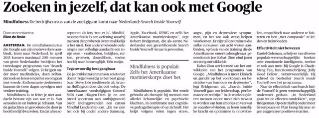 NRC Handelsblad 24 november 2014