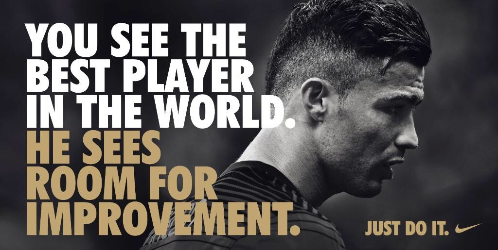 Deze reclame van Nike says it all...